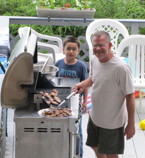 Spencer and Grampa Grill